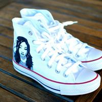 Demi Lovato Converse Chuck Taylor All Star Sneakers - Custom Hand Painted