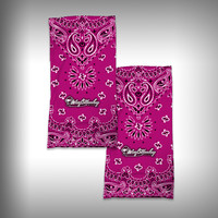 Monk Wrap Neck Gaiter / Face Shield - Bandana Pink