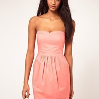 ASOS Strapless Dress With Bell Skirt at asos.com