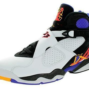 Nike Jordan Men's Air Jordan 8 Retro White/Infrrd 23/Blk/Brght Cncr Basketball Shoe 10
