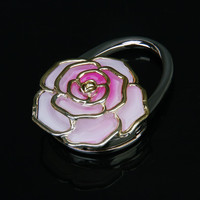 Rose Flower Folding Handbag/Purse/Bag Table Hook