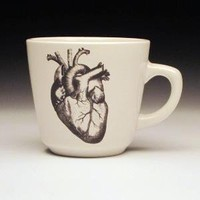 anatomical heart teacup by foldedpigs on Etsy