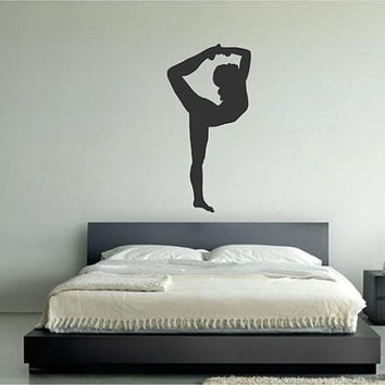 kik2227 Wall Decal Sticker Girl gymnast sports hall bedroom