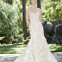 Casablanca Bridal Daphne 2254 Strapless Lace Fit & Flare Wedding Dress