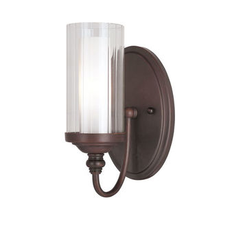 Trans Globe Lighting 3921 Fremont Double Glass Wall Sconce -Rubbed Oil Bronze