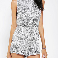 Urban Outfitters - Motel Lomas Snake-Print Romper