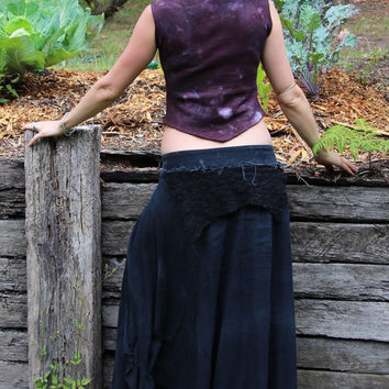 Size XS/S Hemp Fleece Warrior Pixie Cropped Vest