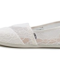 DCCKFC9 TOMS Seasonal Classics White Lace