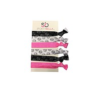Girls Volleyball Hair Ties -Pink