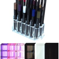 Acrylic Eye Liner / Lip Liner Organizer & Beauty Care Holder Provides 26 Space Storage | byAlegory Makeup Organizer
