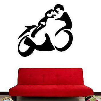 Wall Stickers Vinyl Decal Motorcycle Bike Racing Extreme Sports Speed Unique Gift z1157