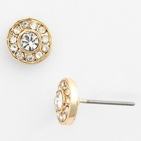 Stephan & Co. Stone Center Stud Earrings (Juniors) | Nordstrom