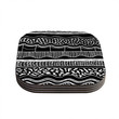 "Vasare Nar ""Abiodun Tribal"" Black White Coasters (Set of 4)"