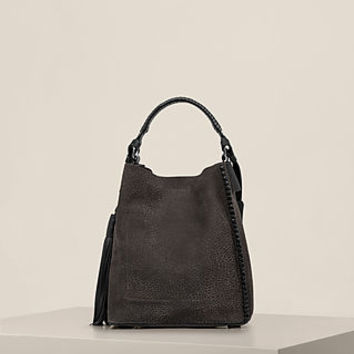 ALLSAINTS US: Womens Pearl Mini Hobo Bag (Graphite/Black)