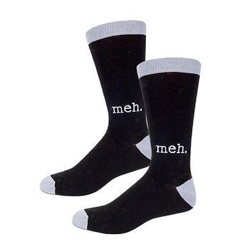 Meh Men's Socks in Black and Gray