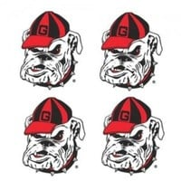 DCCKG8Q NCAA Georgia Bulldogs Old Logo Bulldogs Face Tattoo