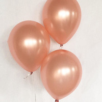 Rose Gold Latex Balloons~ Rose Gold Bridal Shower ~ Rose Gold Baby Shower ~ Rose Gold Birthday ~ Rose Gold Wedding ~ Rose Gold Party Decor