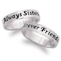 "Walmart: Sterling Silver ""Sisters Forever"" Ring"