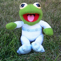 Vintage Kermit the Frog, Baby Kermit 1984 made for Pampers Advertising Premium Promotional, Muppet Babies