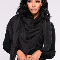 Wrapped So Tight Scarf - Black