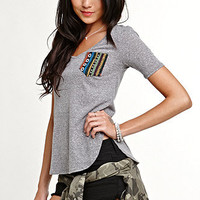 Nollie Print Pocket V-Neck Top at PacSun.com