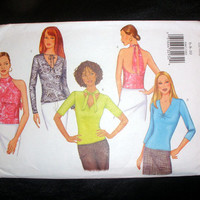Women's Top Misses' Sizes 6-8-10 Butterick 6967 Fast & Easy Sewing Pattern Uncut