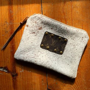Upcycled Louis Vuitton Zipper Pouch