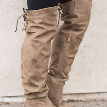 Janet Boots (Taupe)