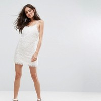 Glamorous Cami Dress In Fluffy Fabric at asos.com