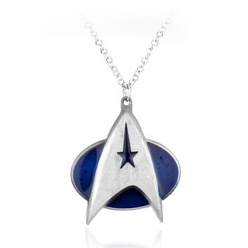 New Design Hot Movie Star Trek Logo Necklaces Marvel Comic Series Metal Pendant Fashion Jewelry For Women and Men Gift -30