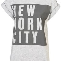 NY Block Roll Back Tee