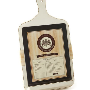 Tablet Cutting Board Stand With Antique Finish