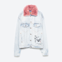 DENIM JACKET WITH GRAFFITI DETAILS