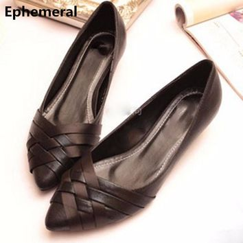 Lady Cheap Retro Western style big size(4-15)pointed closed toe cover heels Platform Women single shoes Weaving summer style