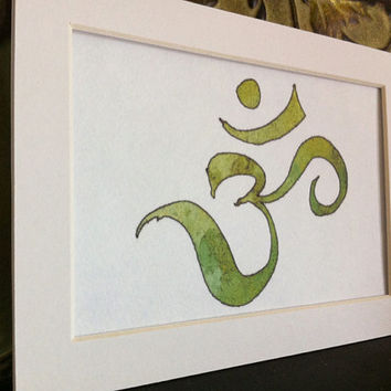 Om #Anahata  #Chakra #Heart Chakra #Buddhist #Hindu #Original #Om #Art #Print #Home Decor #Wall Decor