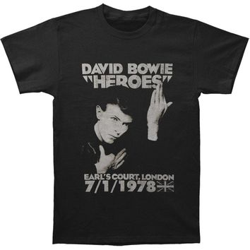 David Bowie Men's  Heroes Earls Court Slim Fit T-shirt Black