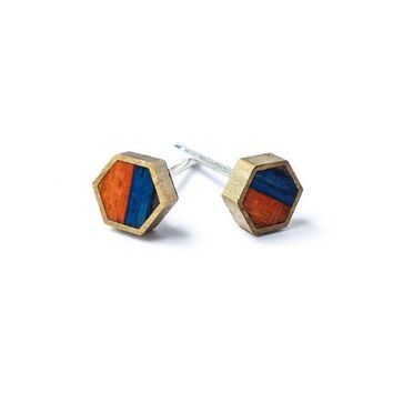 Carbon Stud Earrings