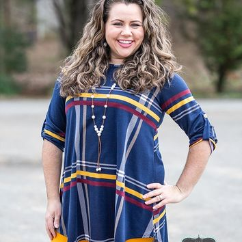Navy Plaid Tunic