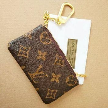 PEAPN1O Day First Louis Vuitton Monogram Canvas Key Pouch
