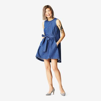 Kate Spade Saturday Trapeze Dress In Rinse
