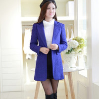 Women Fashion Woolen Trench Coat = 1782941700