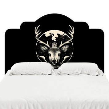 Deer Home Headboard Decal