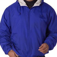 Fleece Lined Hooded Jacket - UltraClub Fleece Lined Hooded Jacket
