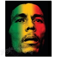 Bob Marley Rasta Face Fleece Throw @ RastaEmpire.com