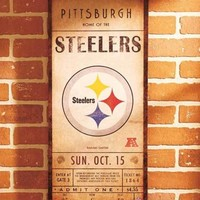 Canvas Pittsburgh Steelers NFL Classic Ticket Wall Art Sign Plaque Picture Decor