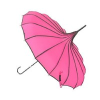 Amazon.com: Topwedding 35'' Nylon Pagoda Parasol Umbrella, One Size, Rose Red: Clothing