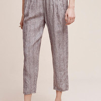 Striped Linen Joggers