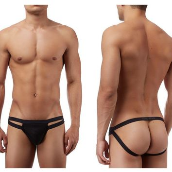 Male Power PAK847 Strappy Jock Color Black