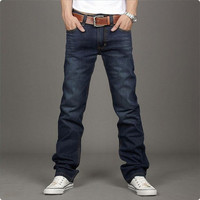 New Men Classic Jeans Stylish Designed Straight Slim Trousers Casual Pants ZooD F_F = 1902087748