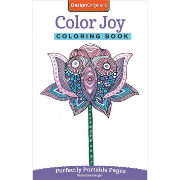 Design Originals Color Joy Perfectly Portable Adult Coloring Book by Valentina Harper